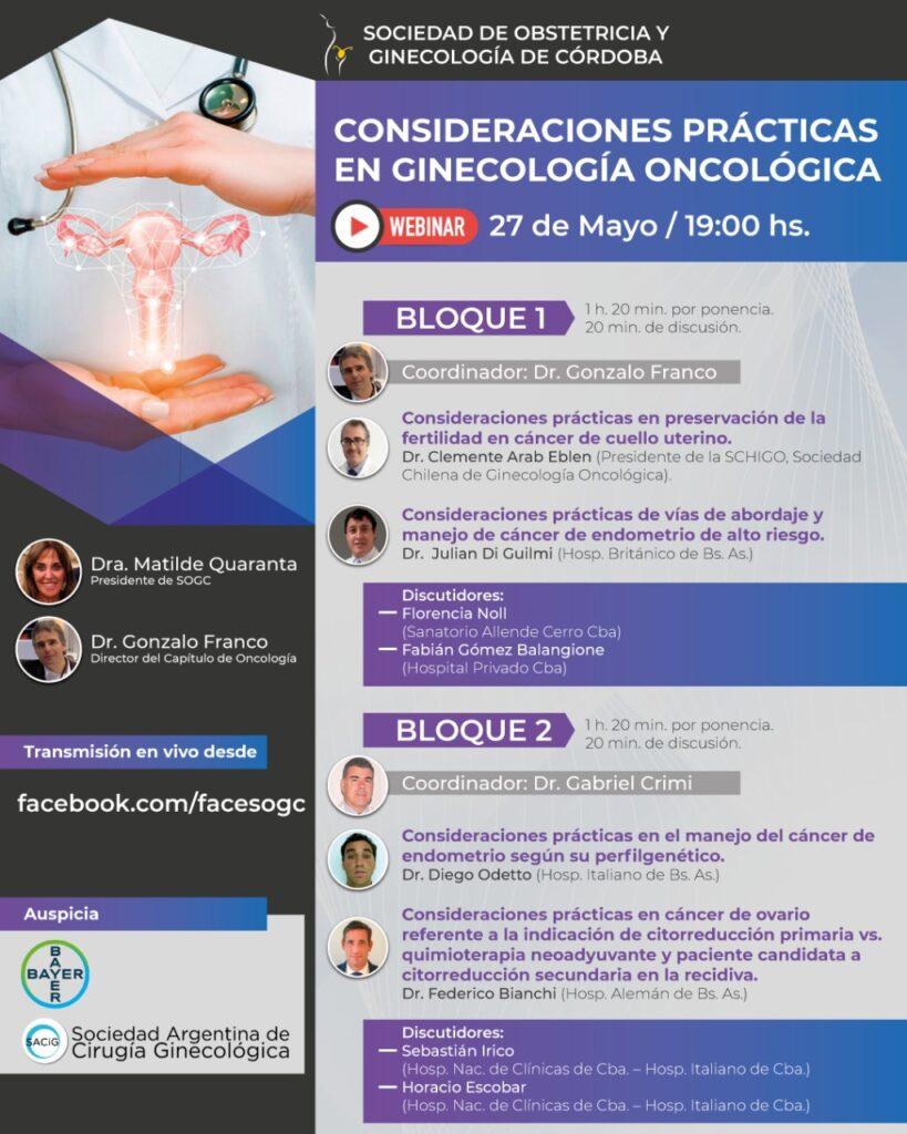 Programa Webinar Córdoba 2021 SOGC